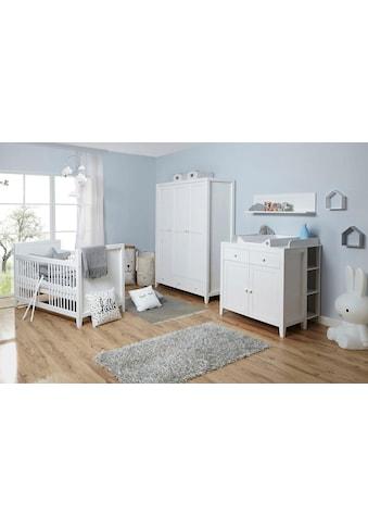 Ticaa Babyzimmer-Komplettset »Rosa«, (Set, 5 St.), Bett + Wickelkommode + Schrank +... kaufen