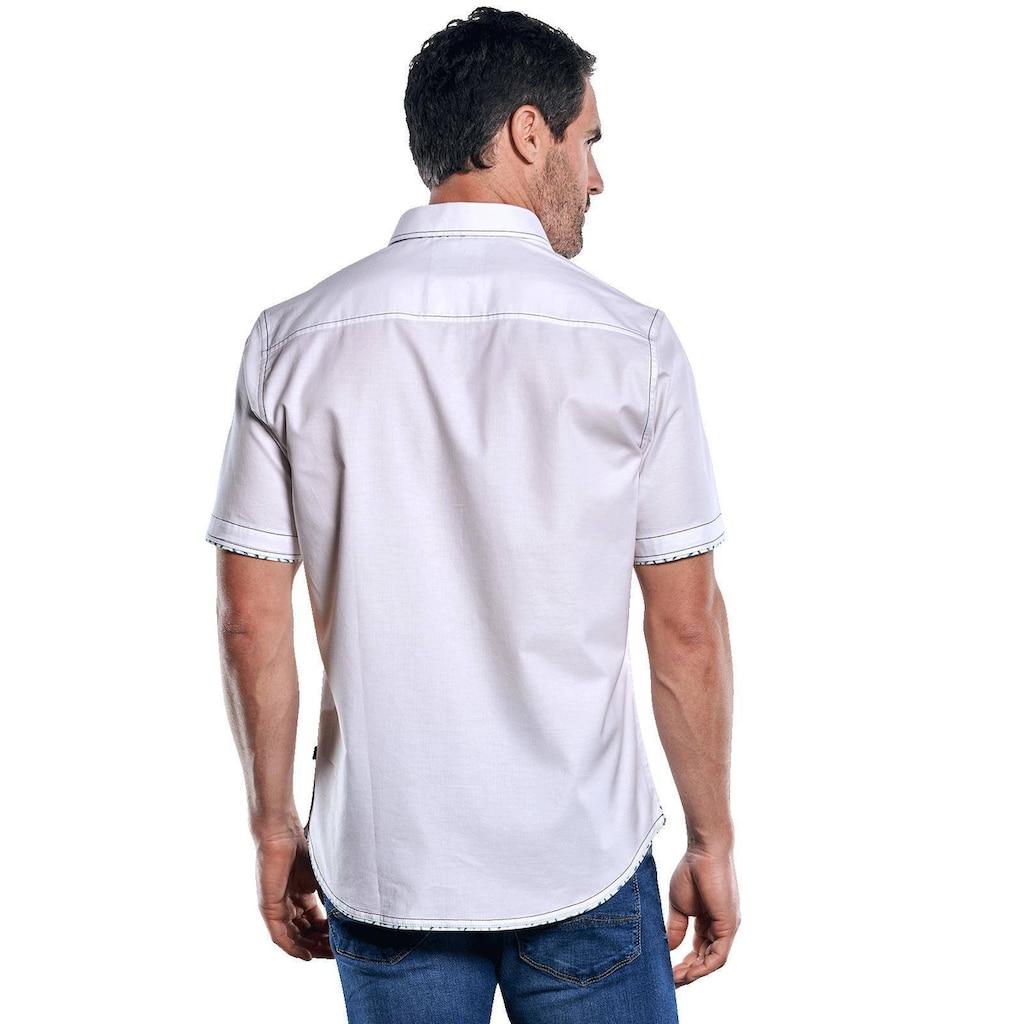 Engbers Elastisches Kurzarmhemd mit kernigen Steppnähten