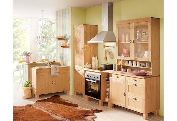 Küchenzeile aus Holz