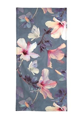 Juniqe Handtuch »Butterflies & Hibiscus Flowers«, (1 St.), Weiche Frottee-Veloursqualität kaufen