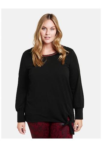 Samoon Langarmshirt »Shirts mit Knoten - Detail GOTS zertifizierte Bio - Ba« kaufen