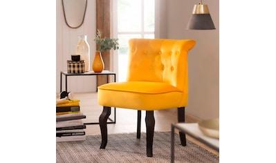 Home affaire Sessel »Beatrix«, mit Knopfheftung im Rücken und einem schönen Kederschwung kaufen