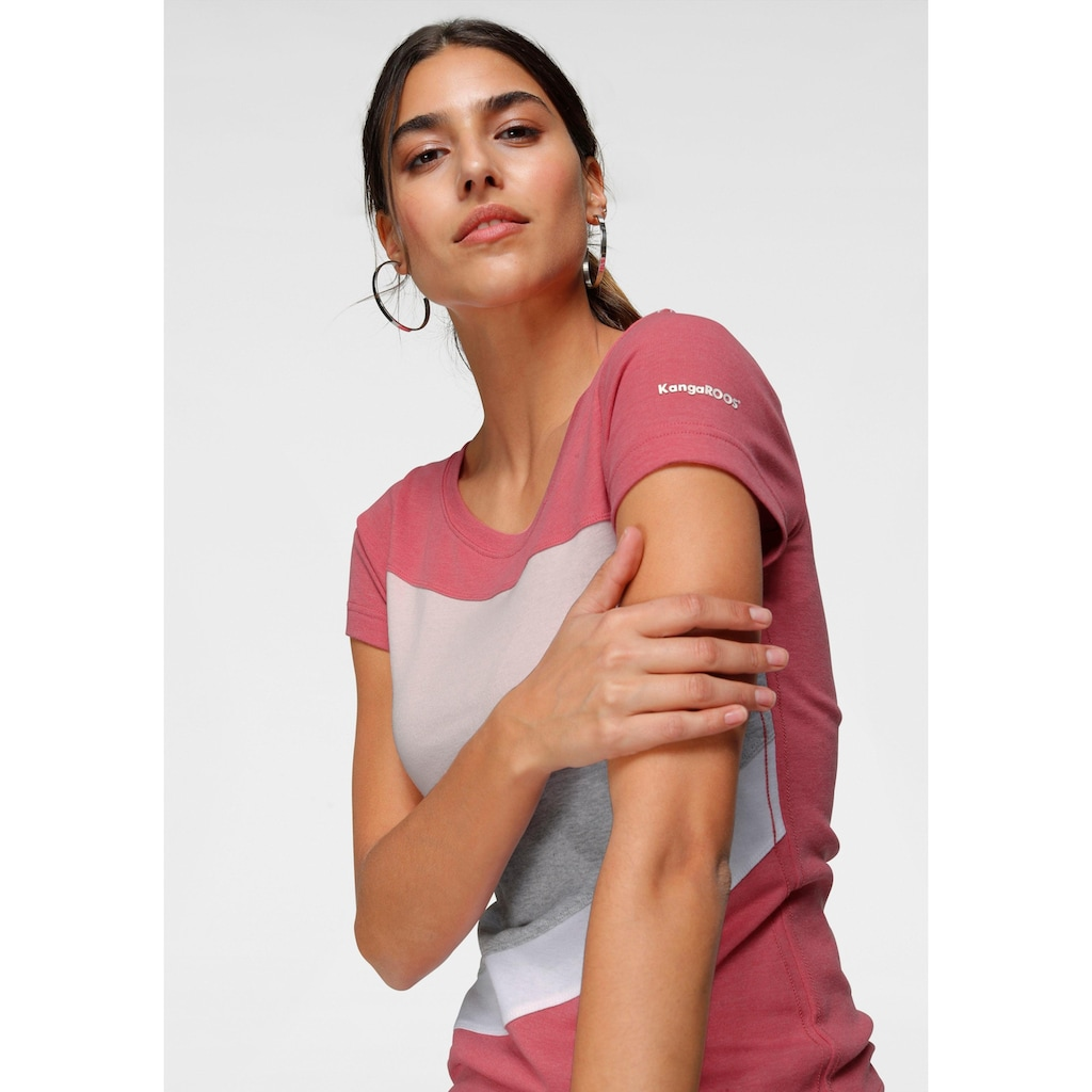 KangaROOS T-Shirt, mit Colorblocking-Design