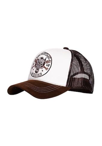 KingKerosin Trucker Cap »San Antonio Wolves«, mit Stickereien und Schirm in Samt-Optik kaufen