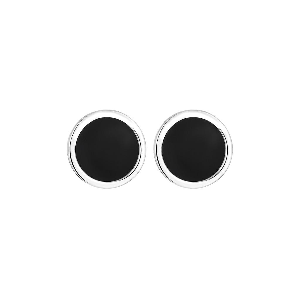 Kuzzoi Paar Ohrstecker »Basic Kreis Geo Emaille 925 Sterling Silber«
