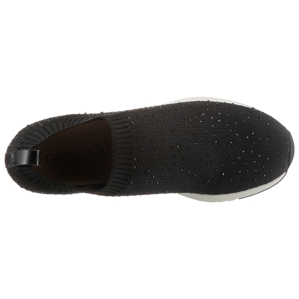 Caprice Slip-On Sneaker, mit Strass-Steine