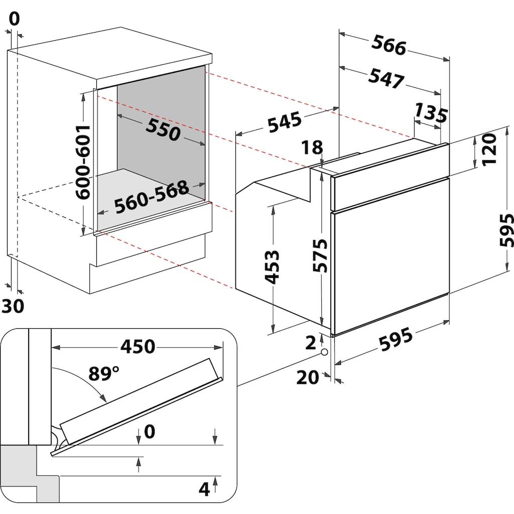 BAUKNECHT Elektro-Herd-Set »Heko Lambada«, HVS3 TH8V2 IN, mit 2-fach-Teleskopauszug, Hydrolyse, (Set)