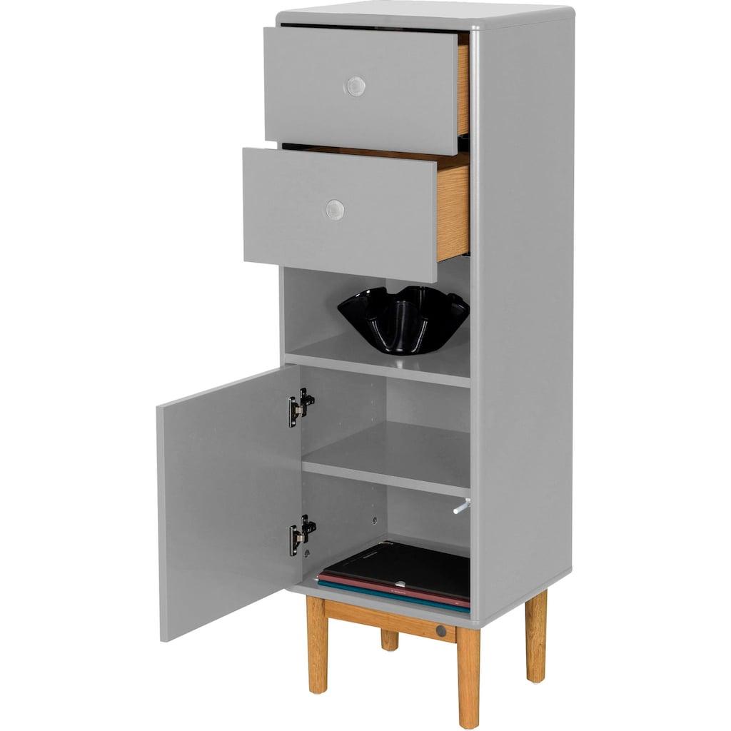 TOM TAILOR Aktenschrank »COLOR OFFICE«, mit 1 Tür & 2 Schubladen, mit Push-to-Open, mit Füßen in Eiche geölt, Breite 40 cm