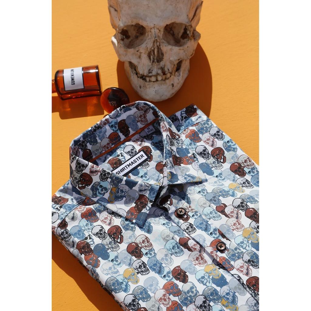 SHIRTMASTER Kurzarmhemd »colourfulskull«, mit Totenkopf-Druck