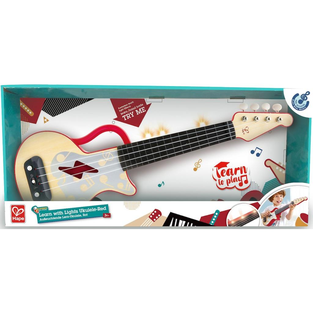 Hape Spielzeug-Musikinstrument »Elektrische Lern-Ukulele, rot«