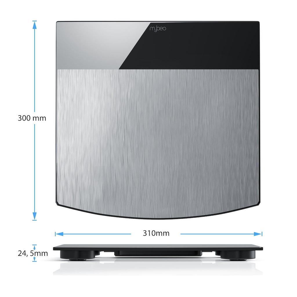 "MyBeo Digitale Edelstahl Körperwaage »3,5"" LED-Display / DMS Mess-Sensoren / max. 150kg«"