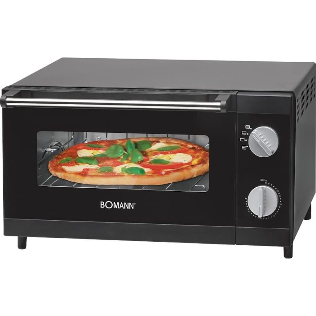 BOMANN Minibackofen »MPO 2246 CB«, Ober-/Unterhitze, 1000 W, Pizzaofen ideal zum Grillen und Aufbacken