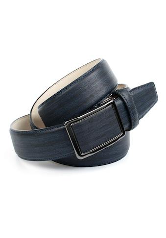 Anthoni Crown Ledergürtel, mit Designmuster in Dunkelblau kaufen