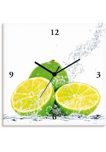 Artland Wanduhr »Limette mit Spritzwasser«, lautlos, ohne Tickgeräusche, nicht... kaufen
