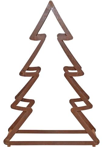 Dekobaum »Weihnachtsbaum«, aus Metall, mit rostiger Oberfläche, Höhe ca. 95 cm kaufen
