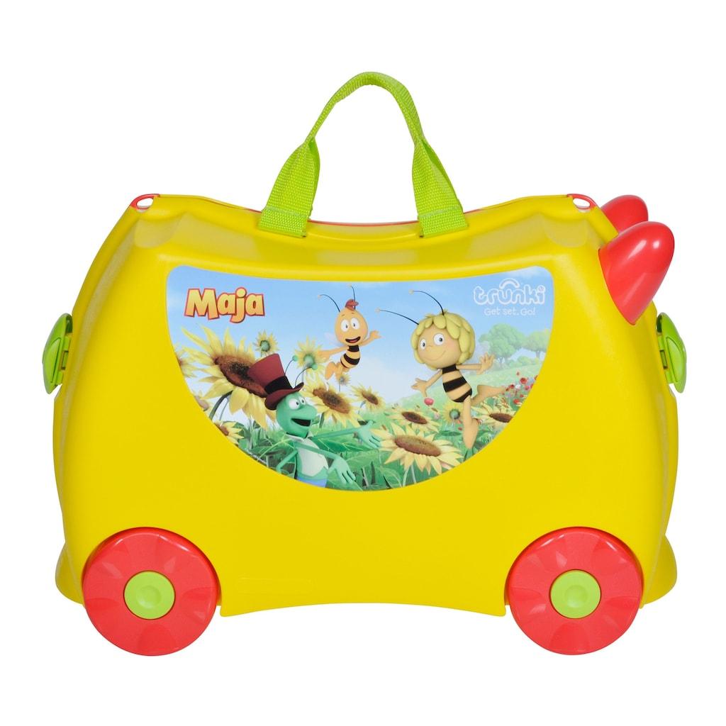 Knorrtoys® Kinderkoffer »Trunki mit Biene Maja Motiv«, 4 Rollen, zum drauf fahren, sitzen und ziehen