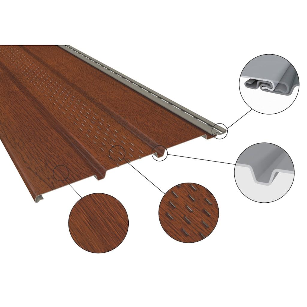 Baukulit VOX Verkleidungspaneel »SOFFIT graphit«, anthrazit