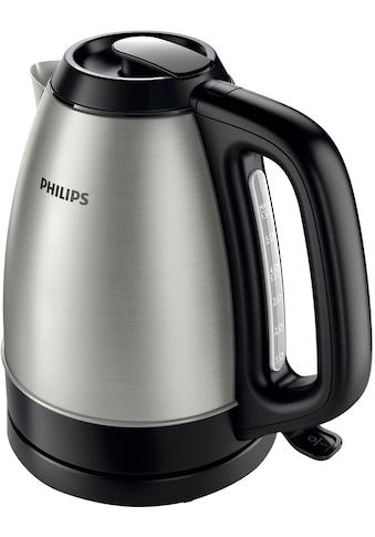 Philips Wasserkocher »HD9305/20«, 1,5 l, 2200 W, Edelstahl/schwarz kaufen