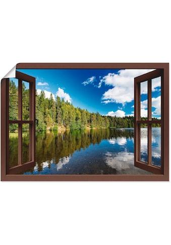 Artland Wandbild »Fensterblick Norwegische Landschaft«, Fensterblick, (1 St.), in... kaufen