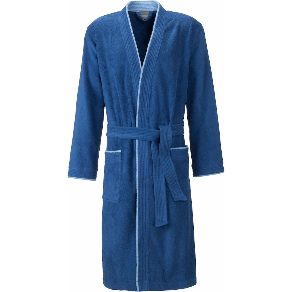 Egeria Herrenbademantel »Nico«, (1 St.), mit Kimono-Kragen