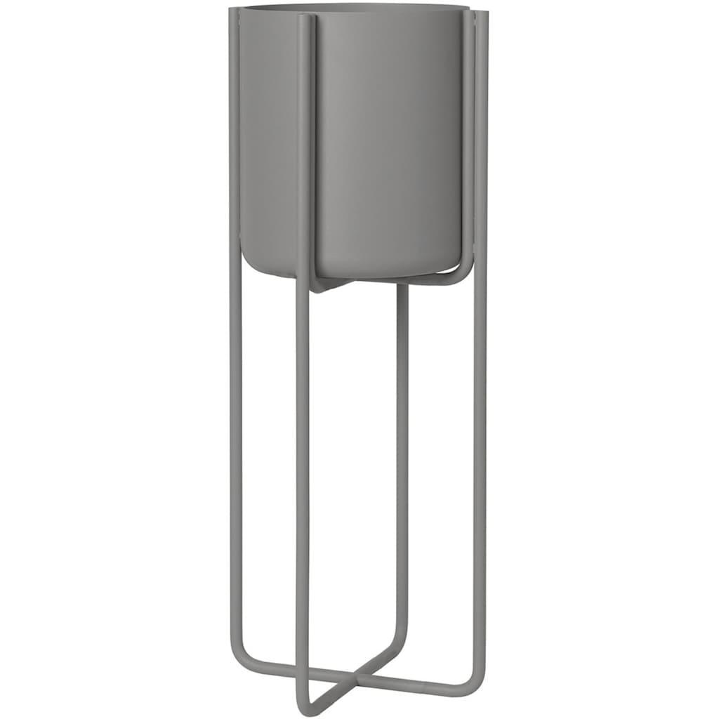 BLOMUS Übertopf »Pflanzgefäß mit Gestell -KENA- Steel Gray«