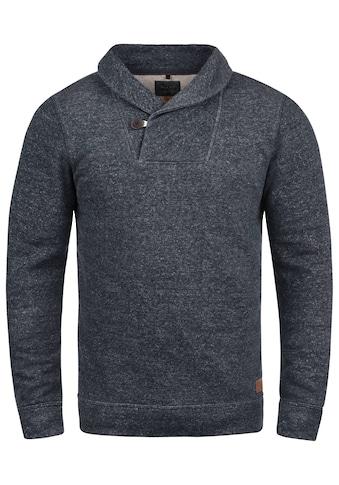 Blend Schalkragenpullover »Janosch«, Sweatshirt in Melange-Optik kaufen