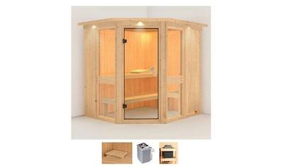 Karibu Sauna »Aline 1«, 9-kW-Ofen mit integrierter Steuerung kaufen