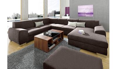 DOMO collection Wohnlandschaft, wahlweise mit Bettfunktion, frei im Raum stellbar kaufen