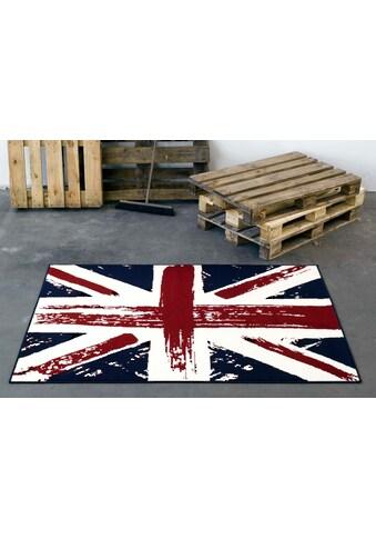 HANSE Home Teppich »Union Jack Vintage«, rechteckig, 9 mm Höhe, rechteckig, Wohnzimmer kaufen