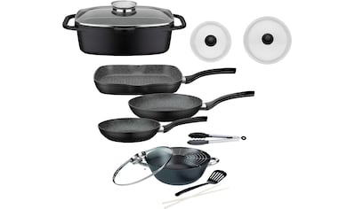 GSW Topf - Set »Gourmet« (Set, 8 - tlg., (3 - tlg. Pfannen - Set, 2 Glasdeckel, 1 Bräter, 1 Wok, 1 Küchenzange)) kaufen