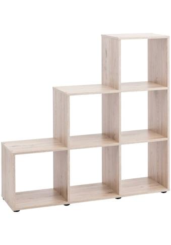 Raumteiler und Treppenregal »mit 6 Fächern«, Maße104,5x29x108 cm kaufen