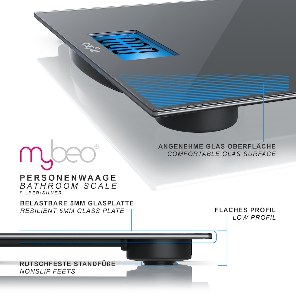 MyBeo Digitale Körperwaage im Slim Design