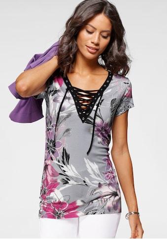 Laura Scott T-Shirt, mit Schnürung am Ausschnitt kaufen