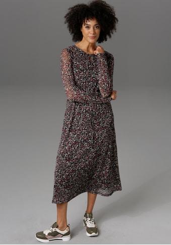 Aniston CASUAL Midikleid, mit Blumendruck - NEUE KOLLEKTION kaufen