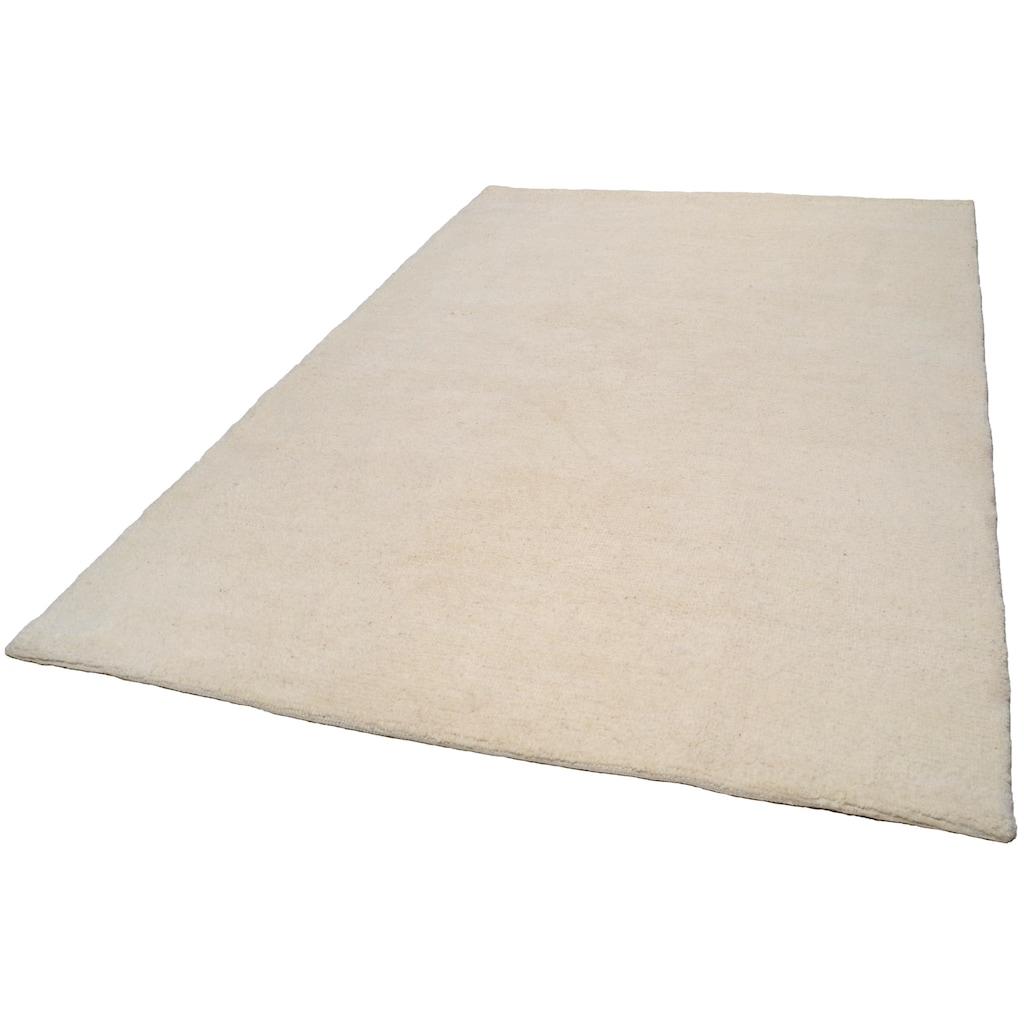 THEKO Wollteppich »Tanger 1«, rechteckig, 20 mm Höhe, reine Wolle, echter Berber, naturbelassene Wolle, handgeknüpft, Wohnzimmer