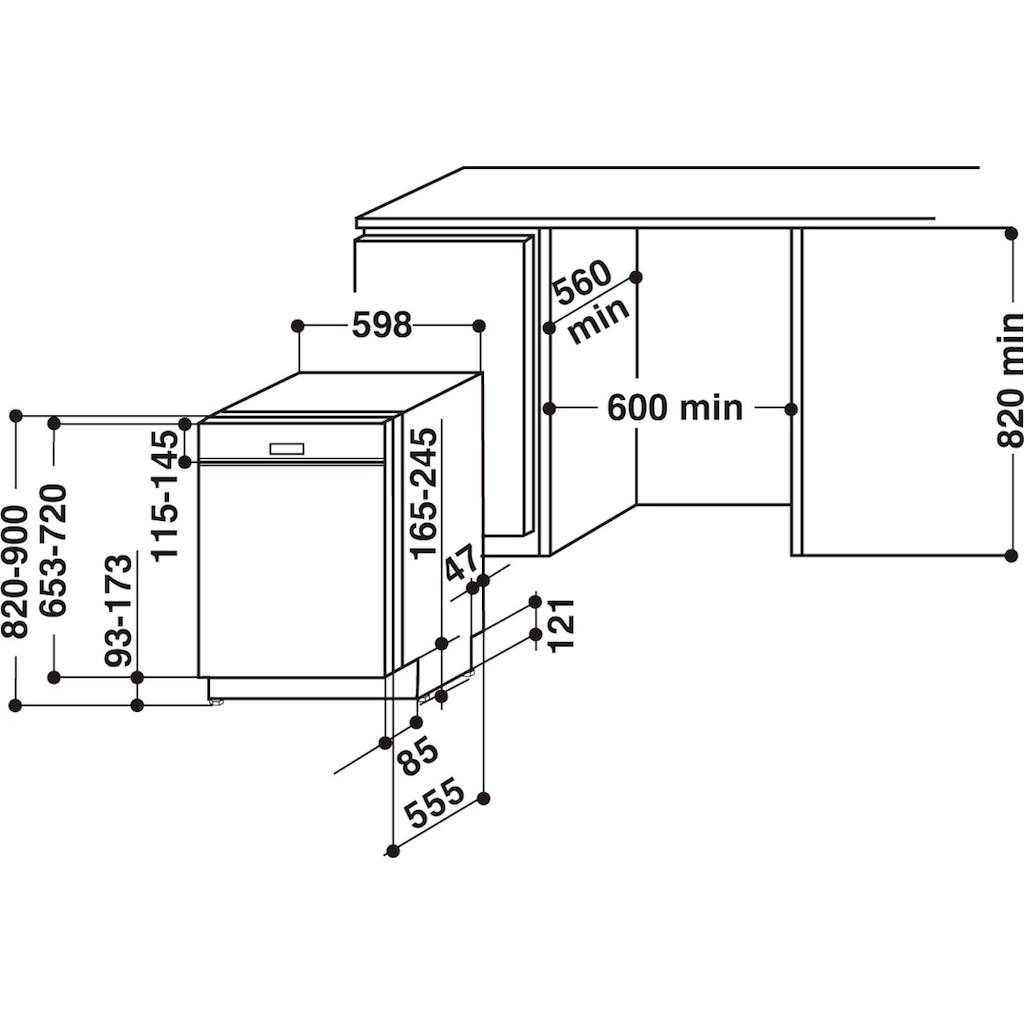 BAUKNECHT teilintegrierbarer Geschirrspüler »OBBO POWERCLEAN 6330«, OBBO POWERCLEAN 6330, 14 Maßgedecke