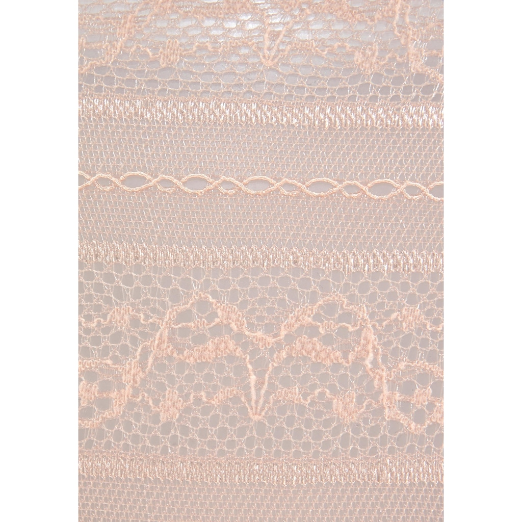 LASCANA Ministring, (2 St.), aus leicht transparenter Spitze mit Bändern