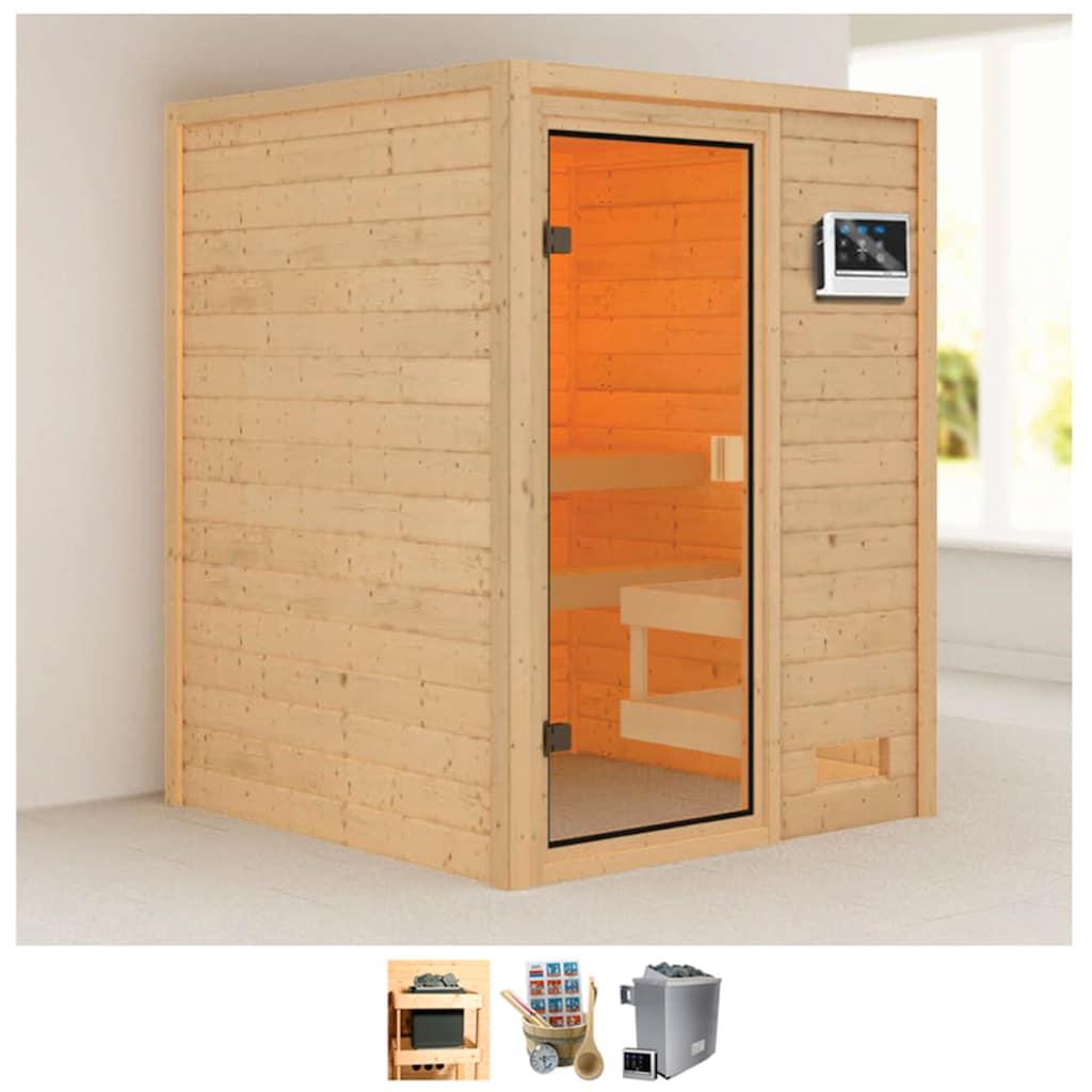Karibu Sauna »Sandy«, 4,5-kW-Ofen mit ext. Steuerung