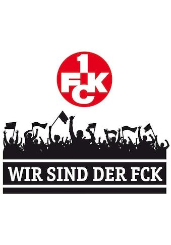 Wall-Art Wandtattoo »Wir sind der FCK mit Logo« kaufen