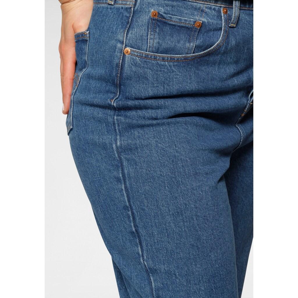 Levi's® Plus Ankle-Jeans »Ribcage Straight Ankle«, mit geknöpftem Hosenschlitz