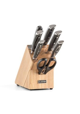 Klarstein Messerset 8 - teilig Schere Wetzstahl Messerblo »Katana« kaufen