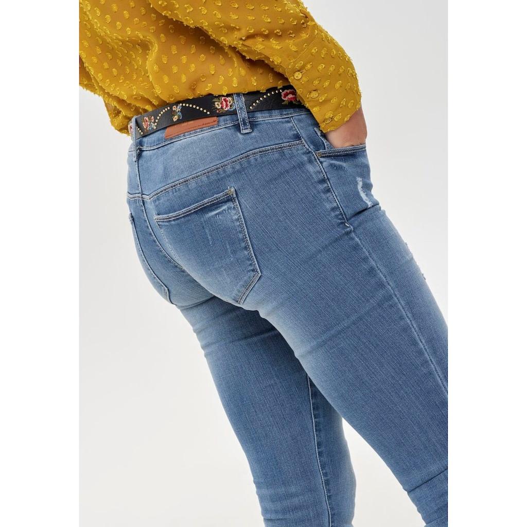 Only Skinny-fit-Jeans »ONLCORAL LIFE«, mit kleinen Destroyed-Effekten