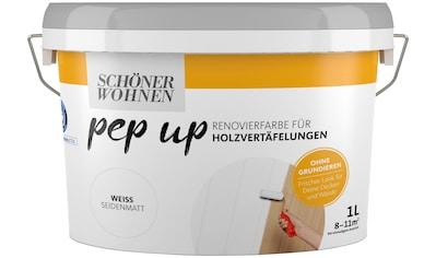 SCHÖNER WOHNEN-Kollektion Lack »pep up - weiß«, seidenmatt, für Holzvertäfelungen 1 l kaufen