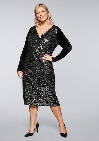 sheego by Joe Browns Partykleid, mit silbernen Pailletten kaufen