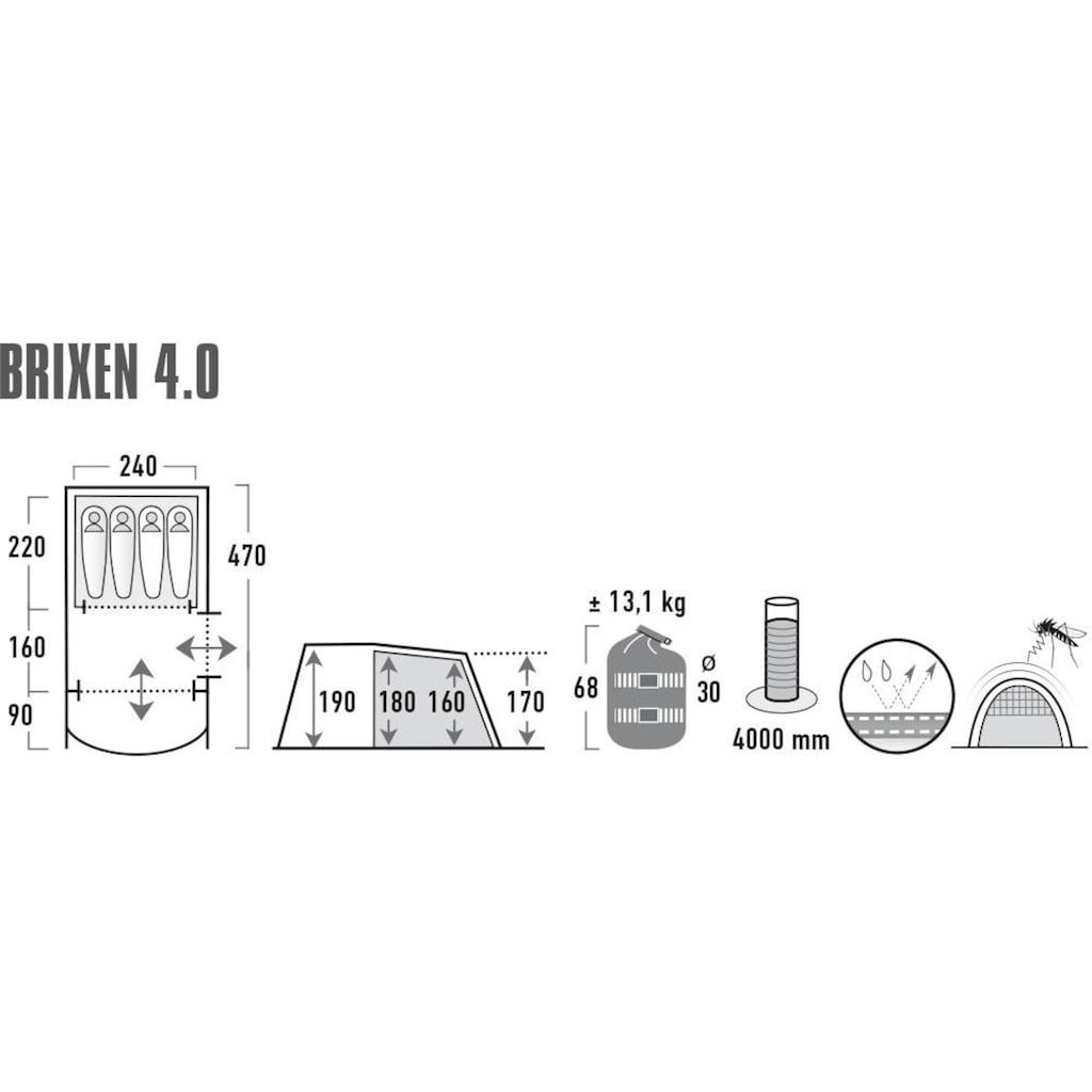 High Peak Tunnelzelt »Brixen 4.0«, 4 Personen