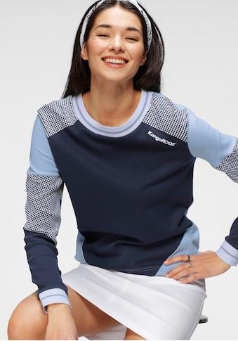 KangaROOS Sweatshirt, im Colorblocking-Design mit Pünktchen kaufen