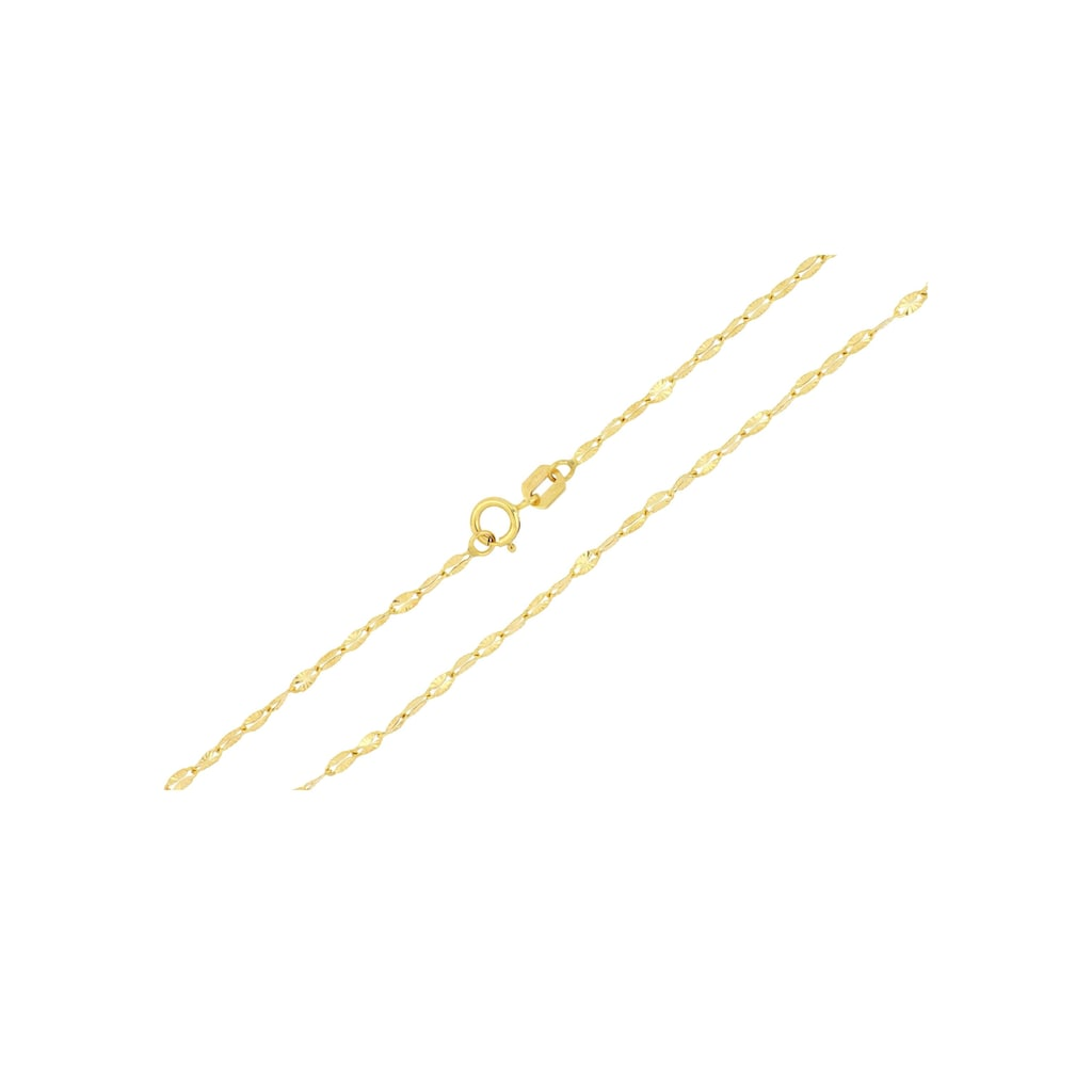 Firetti Goldkette »Ankerkettengliederung, 1,85 mm breit, glanz, sternendiamantiert, flach«