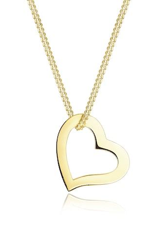 Elli Collierkettchen »Herz Liebe Filigran 375 Gelbgold« kaufen