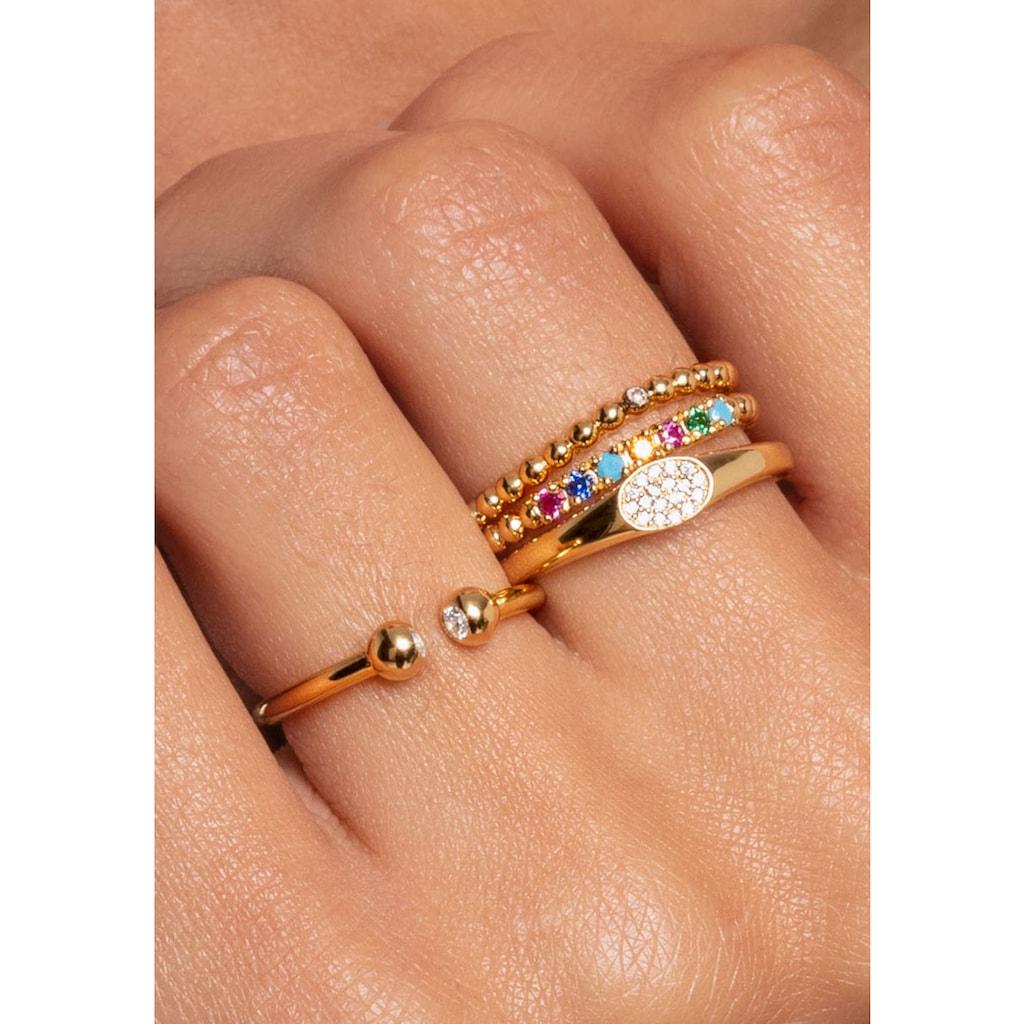 THOMAS SABO Fingerring »weiße Steine, TR2315-414-14-48, 50, 52, 54, 56, 58, 60«, mit Zirkonia