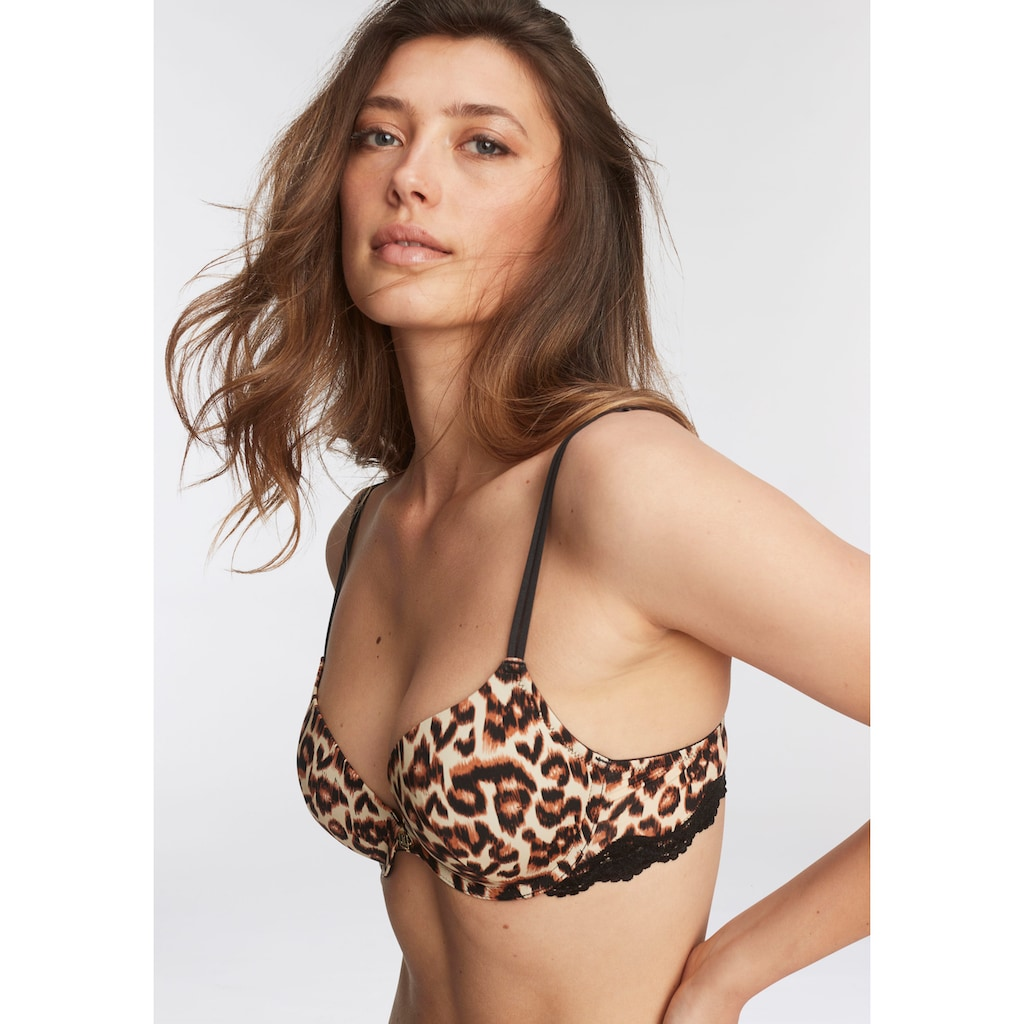 JETTE Push-up-BH, mit Leopardenmuster